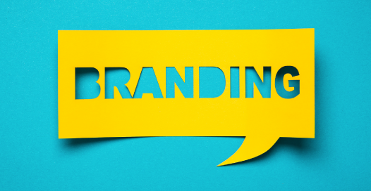 "Big, Bold lettering ""branding"" blue background with 3d reveal."